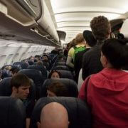 turist in a plane